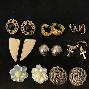 LOT OF SEVEN PAIRS OF VINTAGE-MODERN EARRINGS